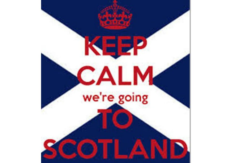 We're going to Scotland