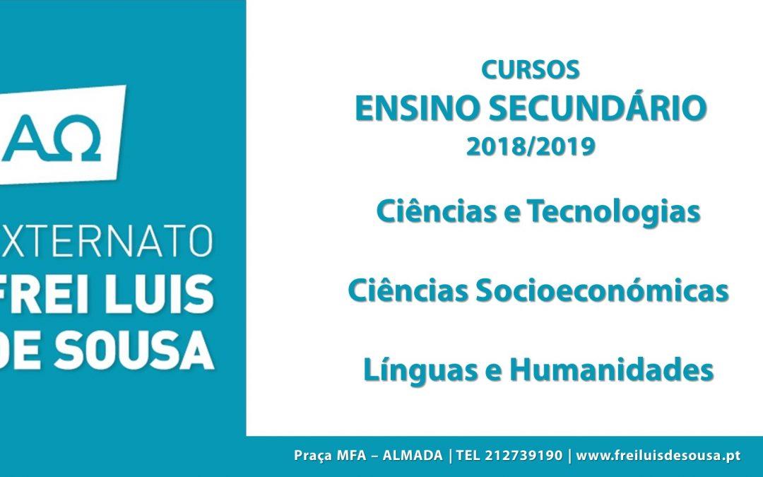 3 áreas no Secundário em 2018/2019